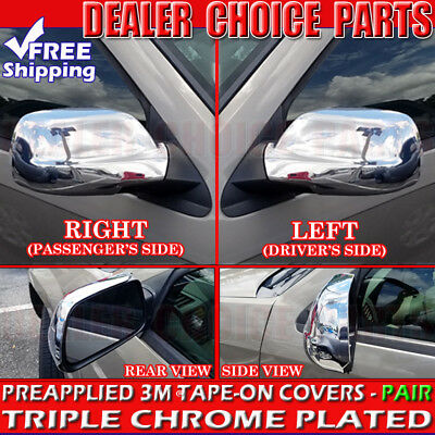 For 2005 2006 2007 2008 2009 2010 JEEP GRAND CHEROKEE Chrome Mirror COVERS  2006 Chrome Headlights Trim