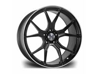 "x4 20"" Riviera RV192 Alloy Wheels Bmw 3 4 5 6 Series M Sport Black Pol Lip 5x120"