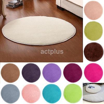 40*40cm Soft Round Non-slip Carpet Living Room Bedroom Bathroom Rug Yoga Mat -