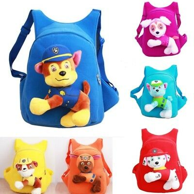 Paw Patrol Baby Kids Plush Soft Bag  Kindergarten Backpack Skye Zum Children Toy