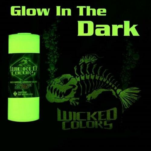 Createx Wicked Glow in the Dark Base 2oz airbrush-ready paint water-based medium