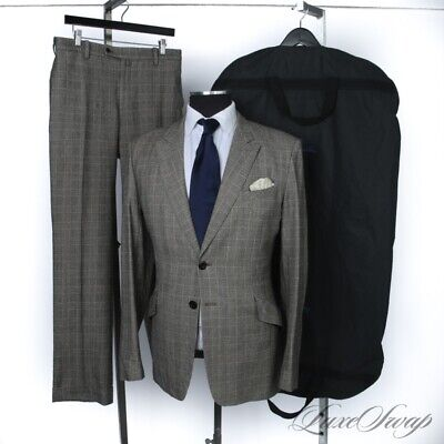 UNIQUE Paul Smith Made in Japan Glen Plaid Flannel Houndstooth Patchwork Suit 42