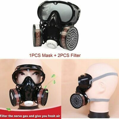 Full Face Respirator Gas Mask Goggles Filter Comprehensive Cover For Reusable