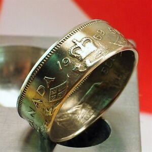 1969 Canadian Half Dollar Coin Ring