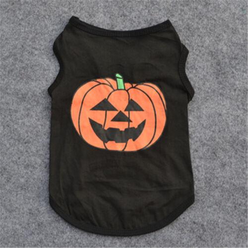 Pet Dog Halloween Pumpkin Outfit Costume Puppy Coat Sweater Jumper Cute Clothes 7