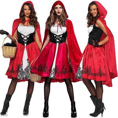 Cosplay Damen Kostüm (Rotkäppchen Mädchen Damen kostüm Cape Frauen Cosplay Partei Karneval Abendkleid)