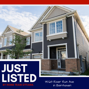3568 River Run Avenue | Sunny End Unit Town Home in Barrhaven