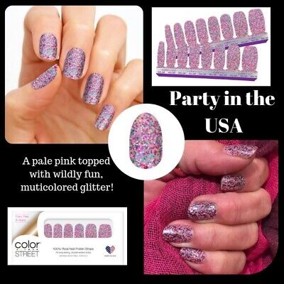 Party In Usa (Color Street PARTY IN THE USA 100% Nail Polish Strips)