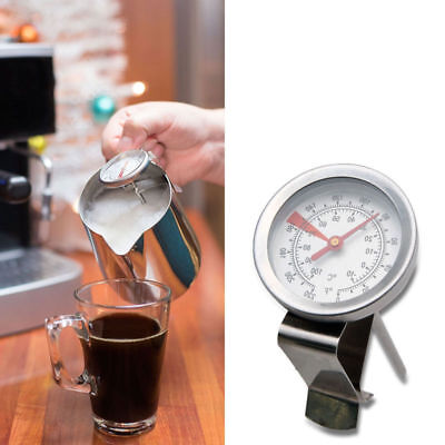 Frothing Thermometer - NEW Milk Frothing Thermometer Coffee Maker Temperature Jug pan Clip On Steel Pod