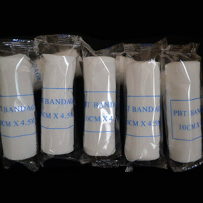 (10 Rolls Household Stretch Gauze Non-Sterile Bandage Wrap 10CM*4.5M White)