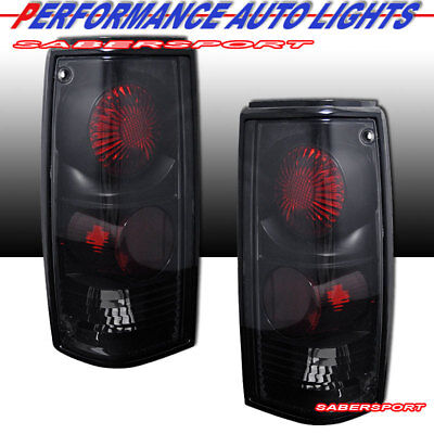 Set of Pair Black Smoke Taillights for 1982-1993 Chevy S10 Pickup GMC Sonoma ()