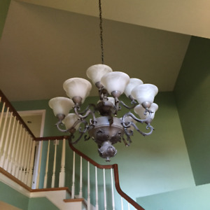 Large and medium chandelier
