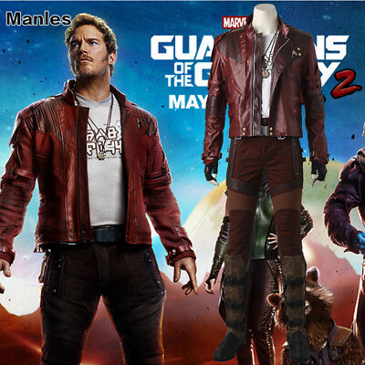 Guardians of the Galaxy 2 Star Lord Costume Cosplay Peter Jason Quill Short Coat - Star Lord Costume