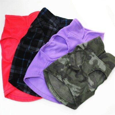 US Pet Dog Warm Coat Sweater Puppy Fleece Jacket Outwear Apparel XS-3XL