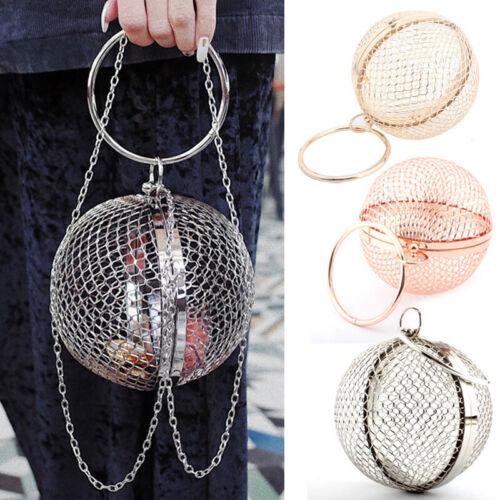 Hohl Metall Net Bag Tasche Steampunk Kugelform Handtasche Damen