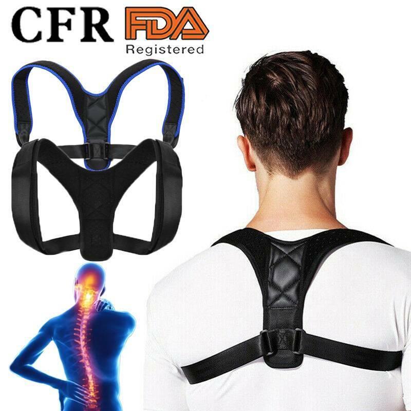 Adjustable Back Posture Corrector Shoulder Support Clavicle