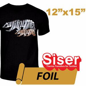 SISER FOIL HEAT TRANSFER 15 X 12 heat press t shirt