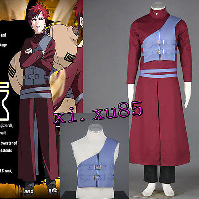 Cartoon Character Naruto Gaara Seventh Naruto Cosplay Costume Halloween Clothes for sale  Shipping to Canada