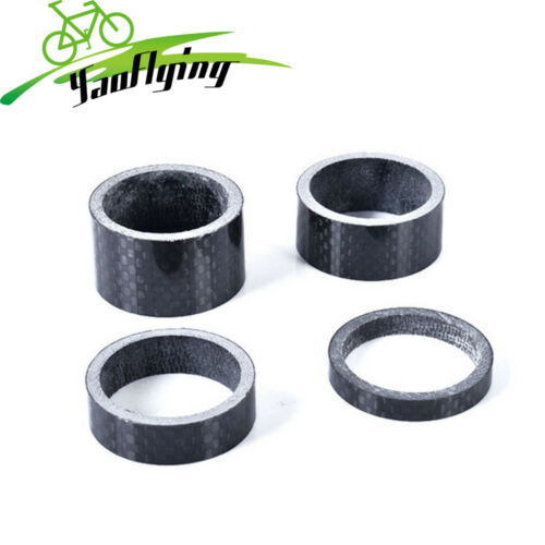 New 4PCS Bicycle Bike MTB Carbon Fiber Headset Spacers 5//10//15//20mm Stem Washer