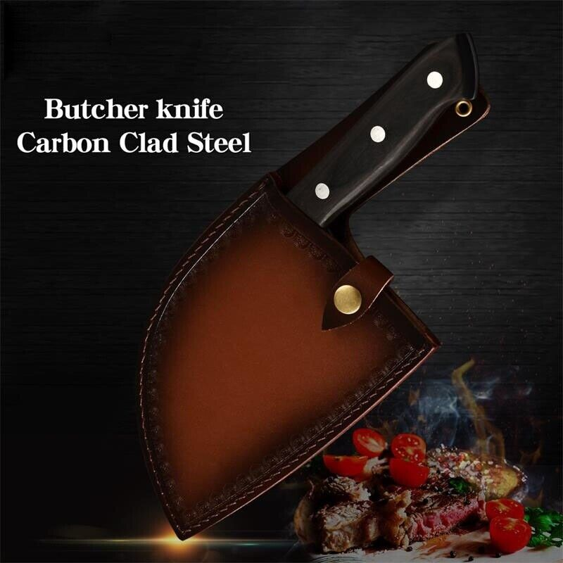 Kitchen Chef Knife Hunters Serbian Steel Knives Cleaver Forged High-Carbon Clad