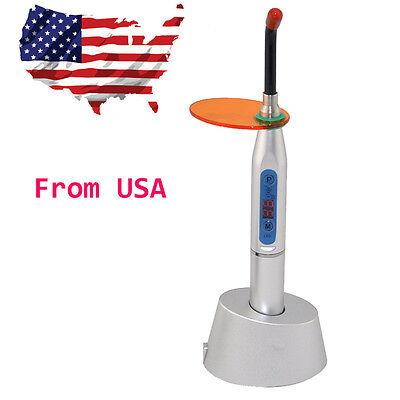 Silver Dental 5w Wireless Cordless Led Curing Light Lamp 2000mw Usa Ship Cl2b