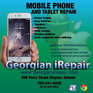 iPhone repairs, Android repairs, cell phone repairs.