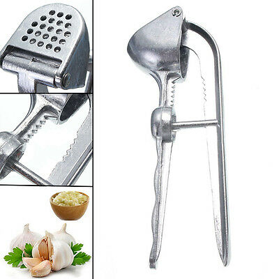 Stainless Steel Garlic Press Crusher Squeezer Masher Home Kitchen Mincer Tool