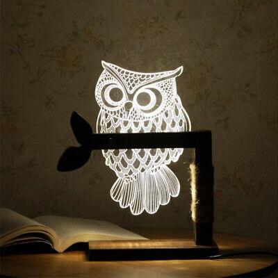 schleuchte Nachtlicht LED Tischlampe Leselampe Wohnzimmer DE (Lese Eule)
