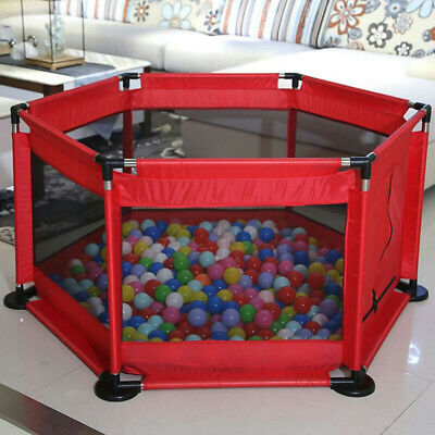US 50in Cartoon Kids Playpen Fence Playpen Baby Safety Pool Game Toddler