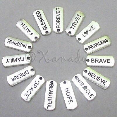 Inspirational Message Wholesale Charms 15PCs Mix CL1001 - 15, 30, 45 Or 60PCs