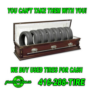 SELL or TRADE your USED/OLD Tires at Green Car Tires!