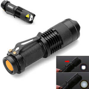 7W-300LM-Mini-CREE-LED-Flashlight-Torch-Adjustable-Focus-Zoom-White-Light-Lamp