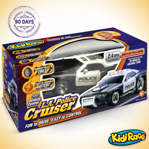 KidiRace RC Remote Control Police Car for Kids - Brand New!