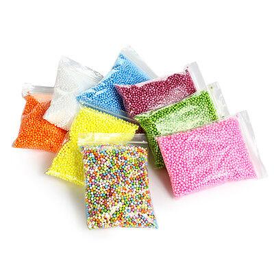 8 Colors Styrofoam Foam Balls for Slime Styrofoam Beads Polystyrene DIY Gift