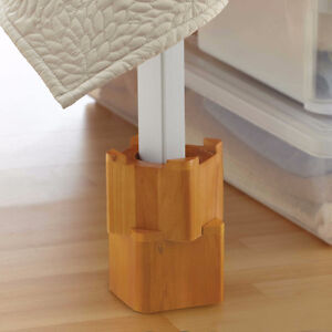 Mahogany Wood Bed Lifts/Risers/Boosters (2 Sets of 4 available) Edmonton Edmonton Area image 1