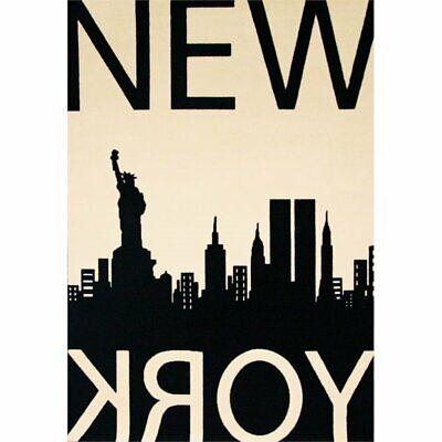 Abacasa Terra New York Black-Ivory 5x8 Area Rug