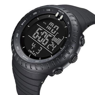 SMAEL Men's LED Digital Sports Watch Military Alarm Stopwatch Quartz Wristwatch