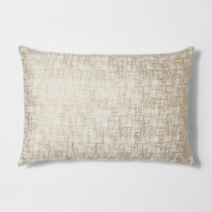 """Two 14""""x20"""" Gold and neutral decor throw pillows"""