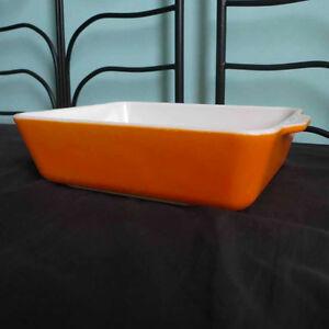 Vintage Pyrex Rectangular Baking Dish - Orange 0503 33