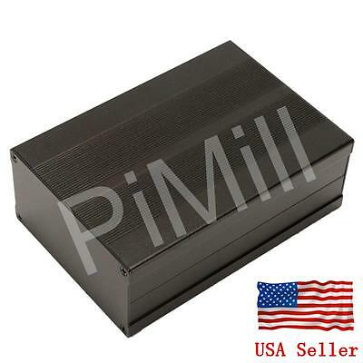 Aluminum Project Box Enclosure Case Electronic Diy 150x105x55mm Black Us Stock