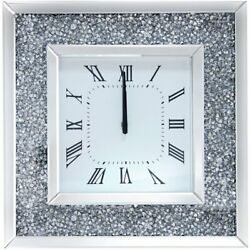 ACME Noralie Square Mirrored Wall Clock