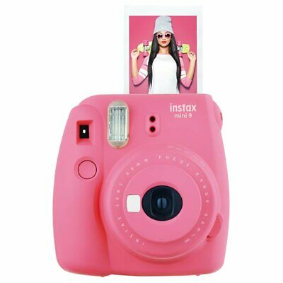 Pink Polaroid Fujifilm Instax Mini 9 Instant Film Camera -Flamingo Pink