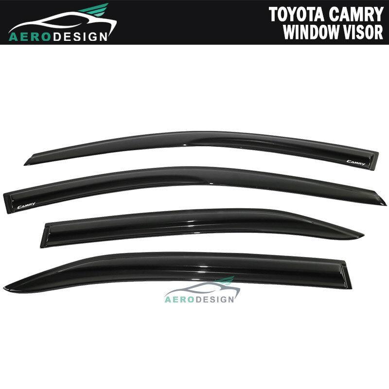 07 08 09 10 11 Toyota Camry OE Style Window Vent Visors Sun Rain Wind Deflectors