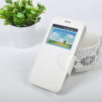 Universal Smartphone PU Leather Magnetic Flip Window Case White
