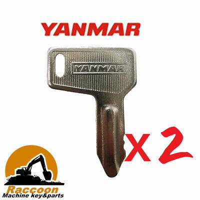 2pcs Fits 301 Yanmar Takeuchi Grader Dozer Excavator Key 933110-00301 52160