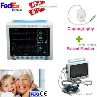 Contec Cms8000 Co2 Vital Signs Icu Patient Monitor Etco2 Capnographfdaceusa