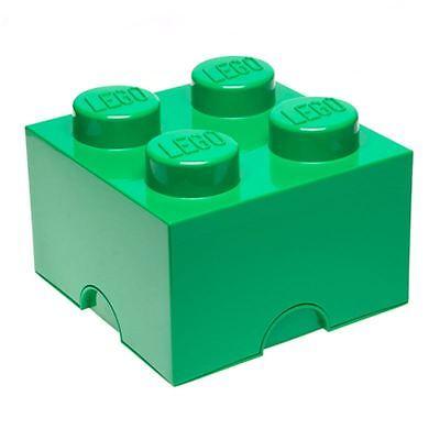 LEGO Almacenaje Ladrillo 4 Verde Dormitorio Infantil Juguete 100% Oficial