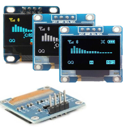 "0.96"" I2C IIC Serial 128*64 Blue OLED 4 PIN LCD LED Display Module for Arduino"