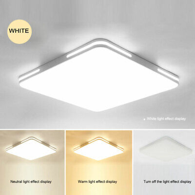 24W Modern LED Ceiling Light Three Color Home Fixtures for Study Bedroom Kitchen