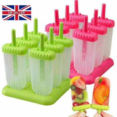 Hot 6pcs Pack Ice Lolly Cream Maker Mold DIY Popsicle Mould Frozen Yogurt Icebox
